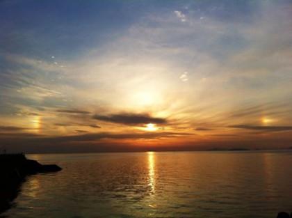 本多さんが撮影した日輪の虹