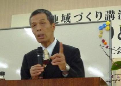 縄田さんがfacebookにアップしてくれた私の講演様子