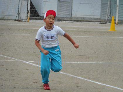 スタートダッシュは一番だった孫のマラソン大会