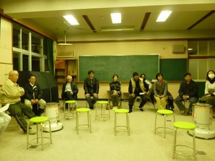 旧須崎小学校で開かれた小さな講演会