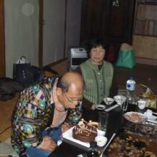 大野事務局長の誕生パーティ