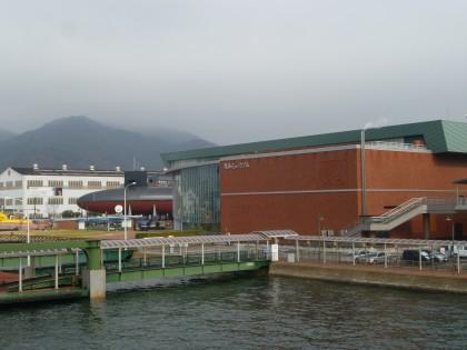 呉港の大和ミュージアム周辺