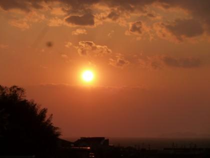 わが家から見える夕日