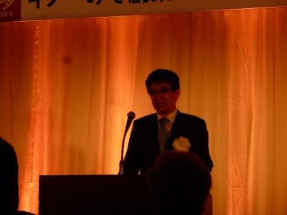 挨拶に立った田中正志社長さん
