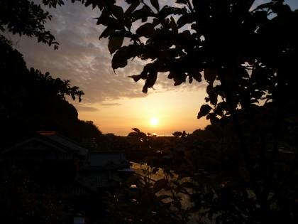 とっておきのおわが家から見える夕日