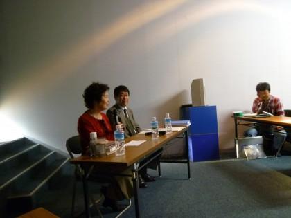 鼎談の青野さんと田中さん