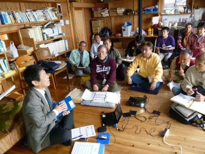 講師のジョン万次郎研究者青野博さん