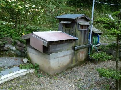 わが家の庭の隅に掘られた井戸
