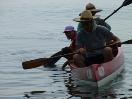 カヌー遊びは楽しい