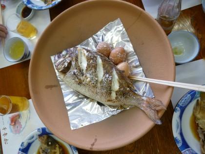 この日一押しだった真鯛のホールク焼き