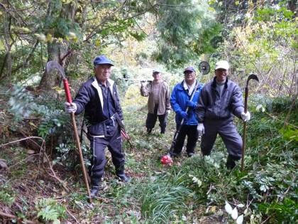 曳き坂草刈り隊のメンバー