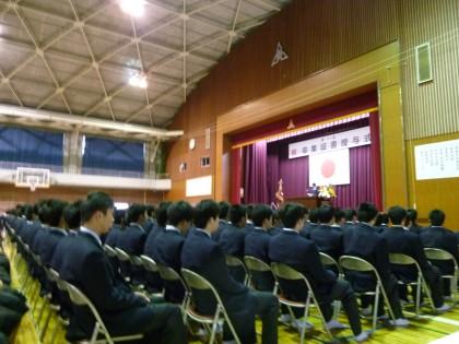 松工の卒業式